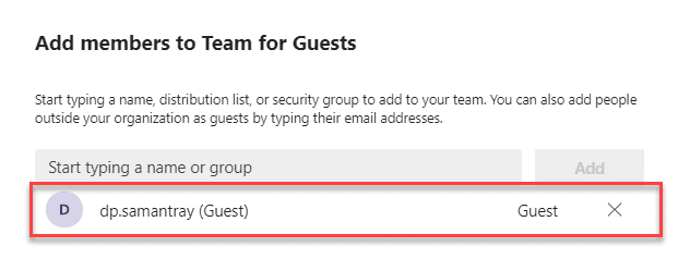 Add guests to a team in Microsoft Teams
