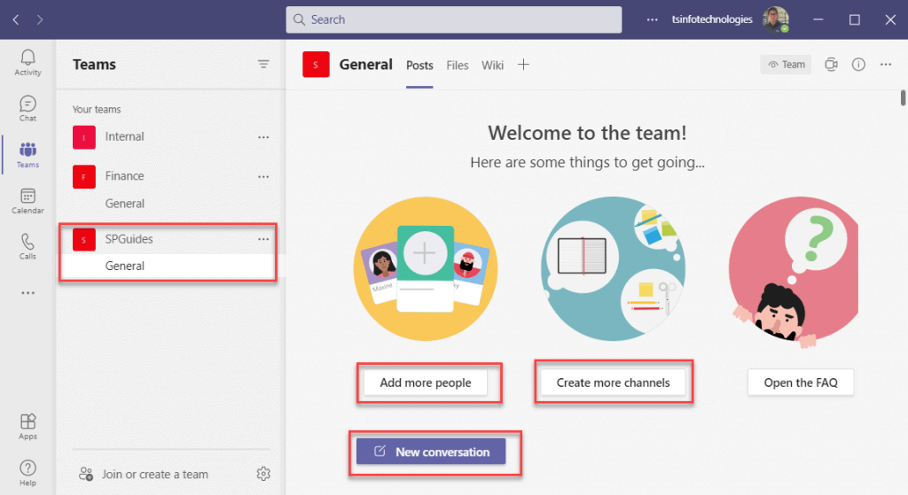 Create a team in Microsoft teams from an existing group