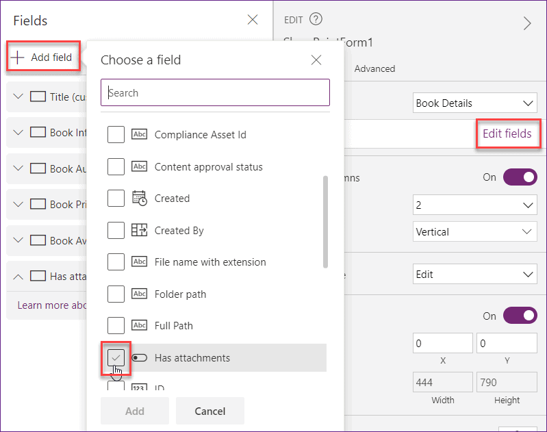 Hide the field from the Power Apps Custom form