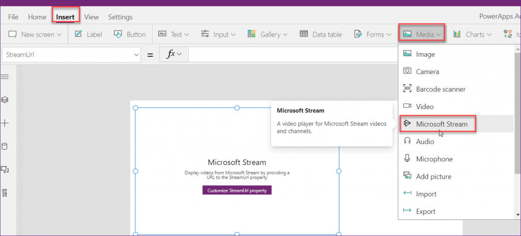 Play Microsoft Stream video in Power Apps