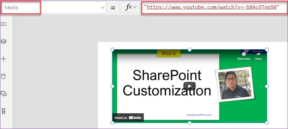 Play a YouTube Video in PowerApps