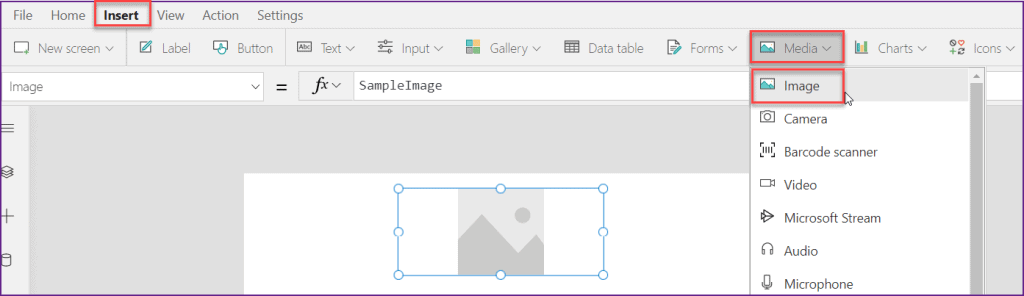 Power Apps Image control