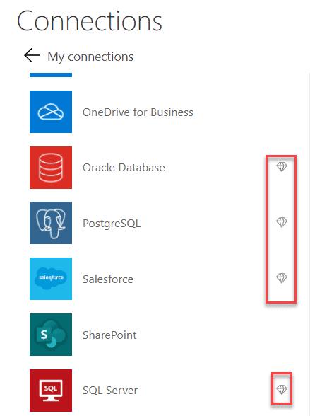 Power Apps connectors
