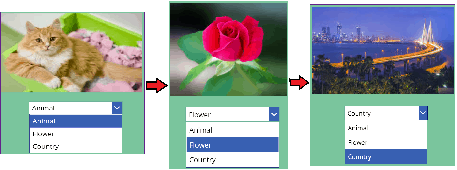 Power Apps dropdown with images