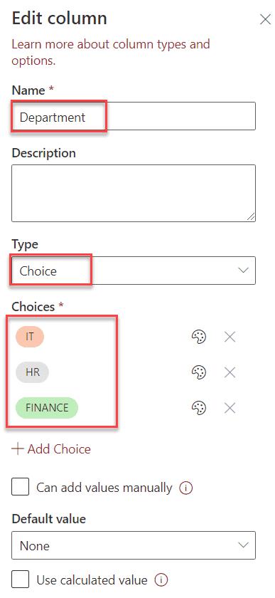 Power Apps groupby choice column