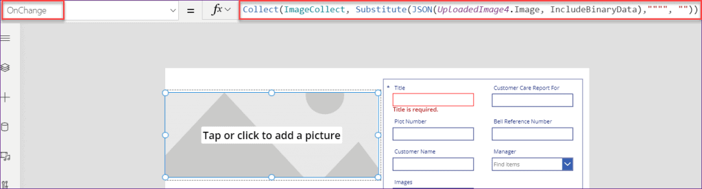 Power Apps image attachment