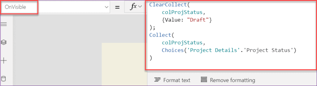 PowerApps add choices