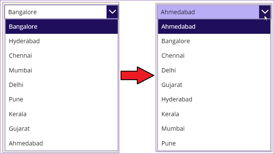 PowerApps choices order