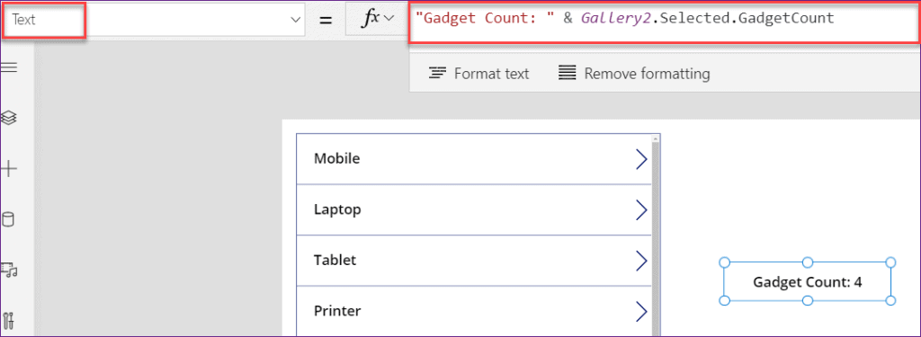PowerApps group by count