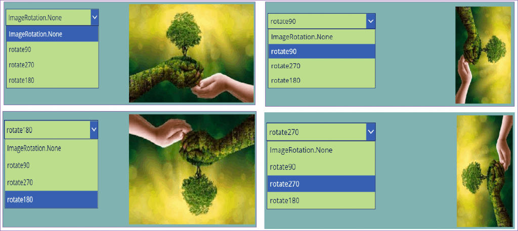 PowerApps image rotation