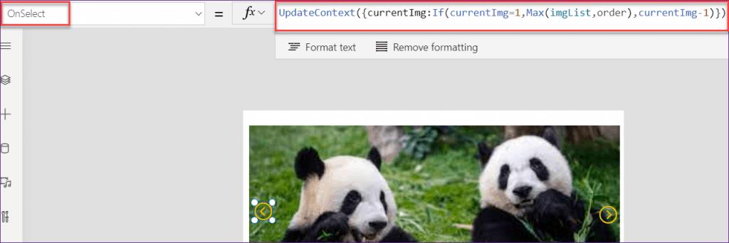 PowerApps image slider