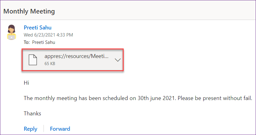 PowerApps mail image