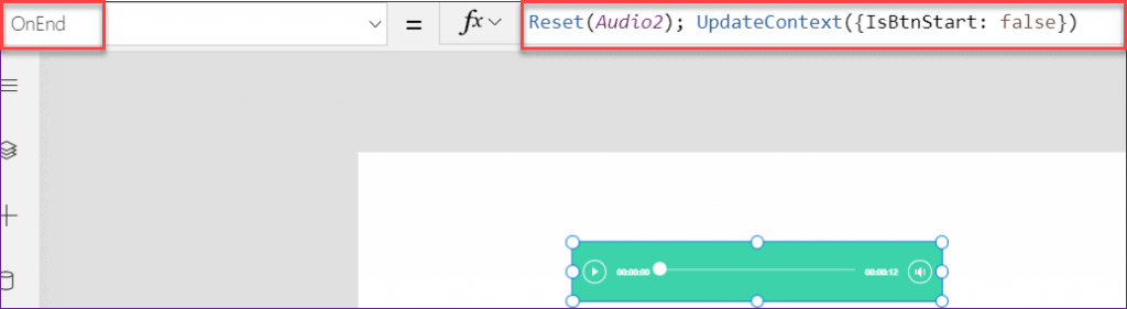 PowerApps play sound on button click