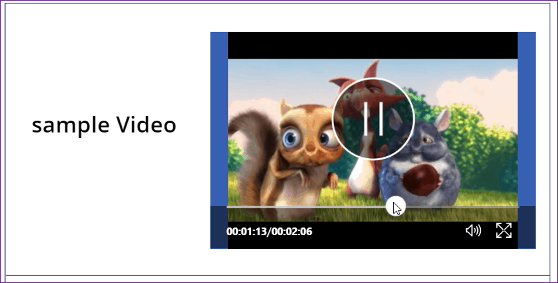 PowerApps play video from SharePoint library