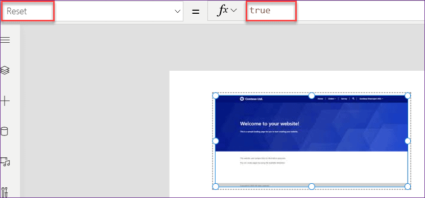 PowerApps reset image control