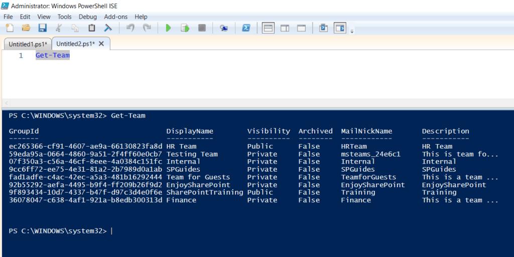 Get a list of all Microsoft Teams PowerShell