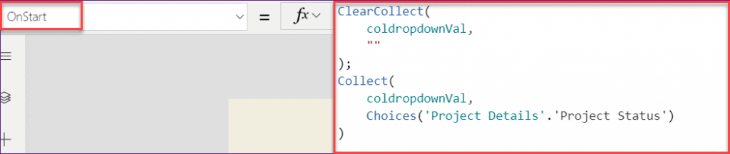 choice field blank value in PowerApps