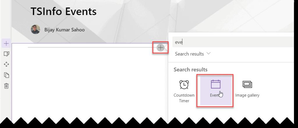 add calendar webpart in sharepoint online modern page