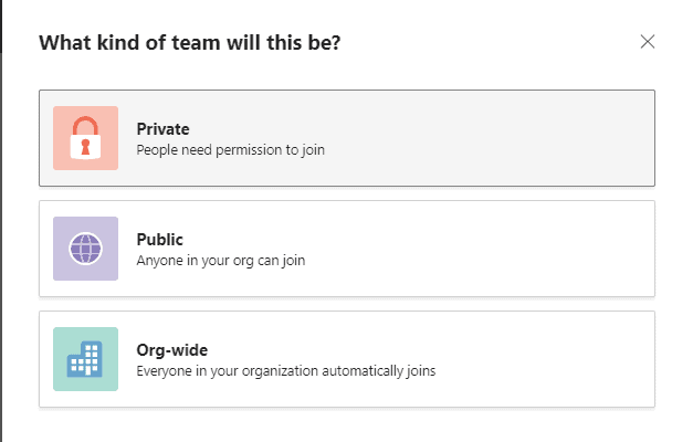 how to create a team in teams
