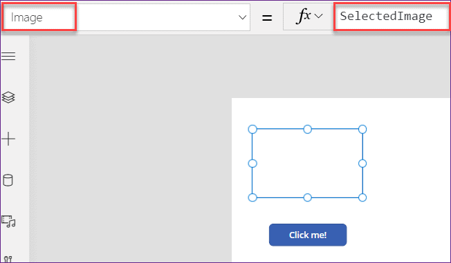 how to set PowerApps image