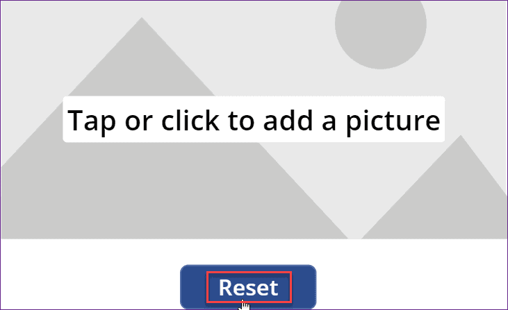 reset image control in Power Apps