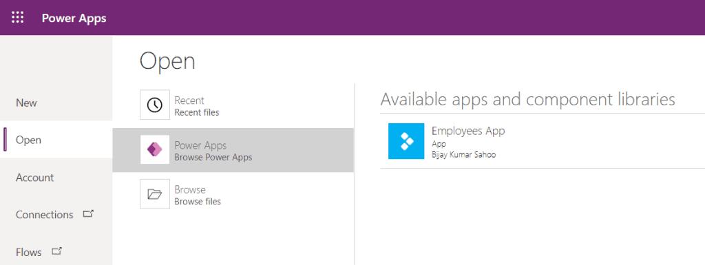 run power apps app