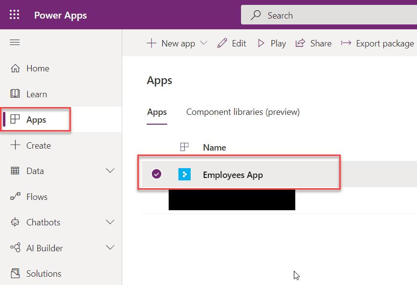 run powerapps app