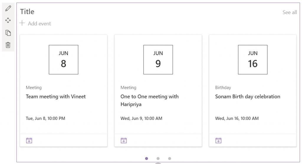 add calendar to modern sharepoint