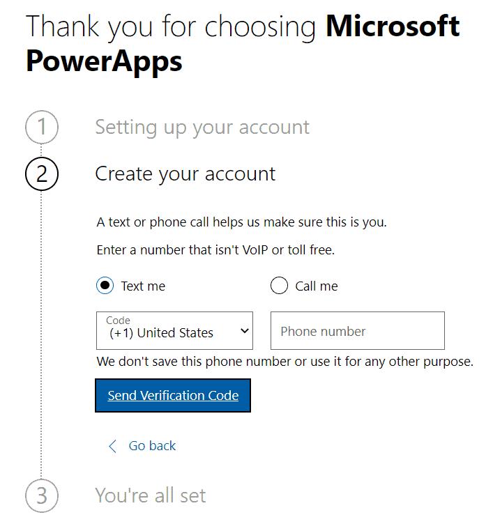 How do you make a PowerApps trial environment