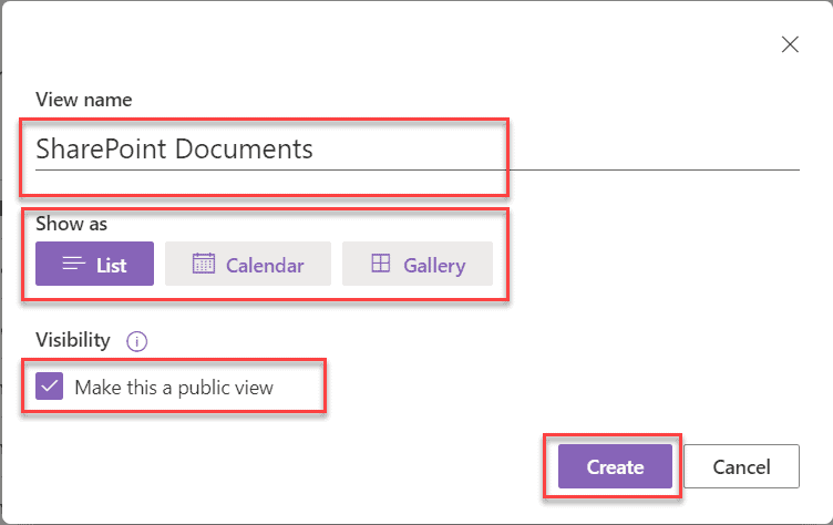How to create sharepoint online modern list view