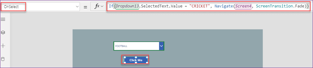PowerApps dropdown selected value to text
