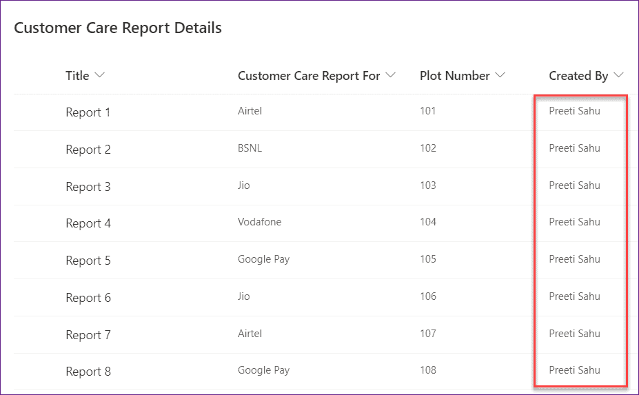 PowerApps filter sharepoint list by created by