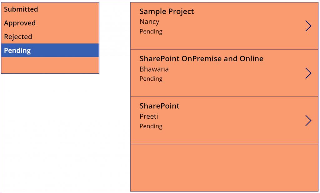 PowerApps list box filter