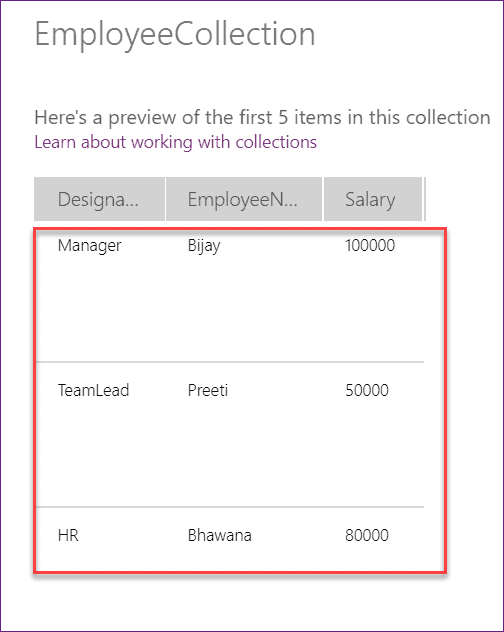PowerApps listbox collection