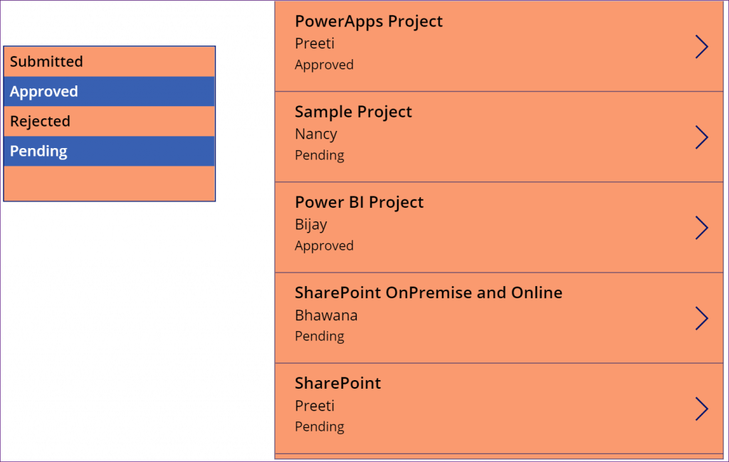 PowerApps listbox filters