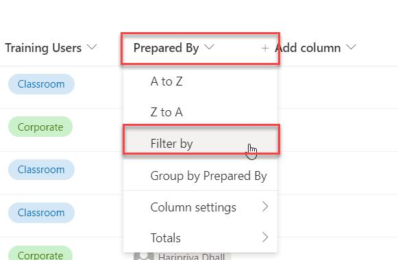 SharePoint online modern list view filter by current user