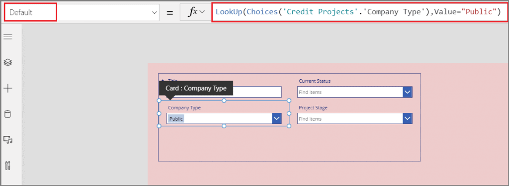 how to set dropdown default value in Power Apps