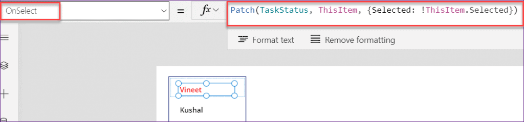 listbox conditional formatting in PowerApps