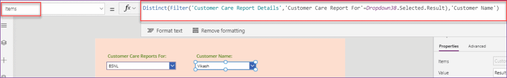 Groupby in PowerApps dropdown