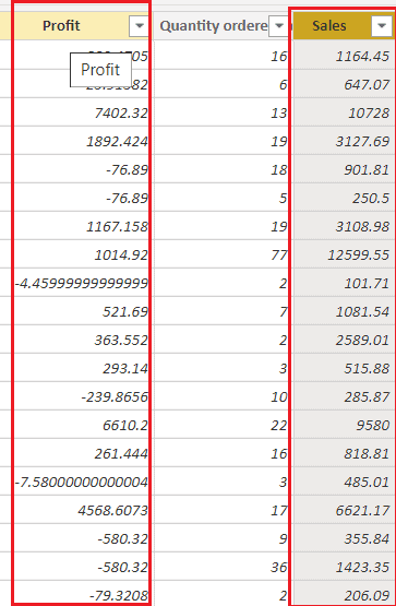 power bi measure substract two columns