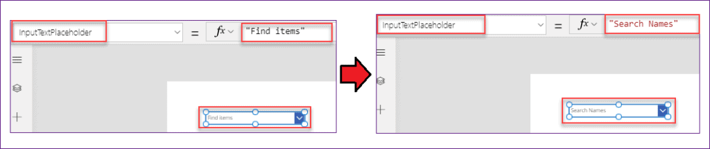 PowerApps dropdown hint text