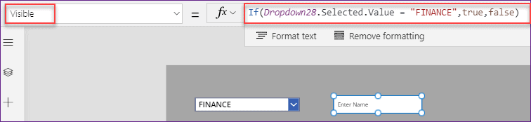 PowerApps dropdown if statement