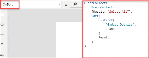 PowerApps dropdown with all