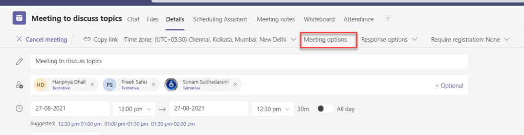 how to turn on chat in microsoft teams meeting
