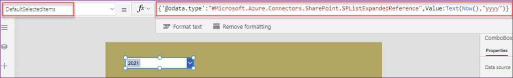 show year in PowerApps dropdown