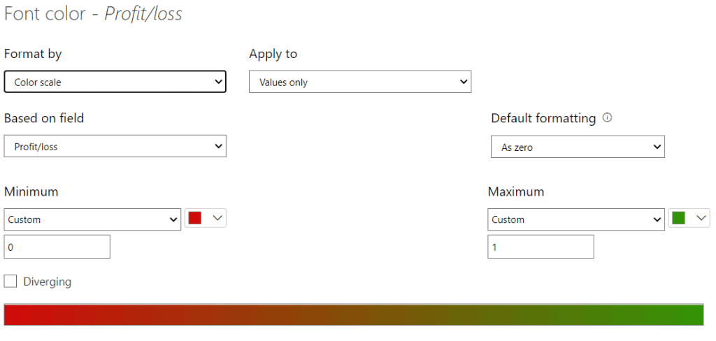 Change color if Positive green and if negative red in Power BI
