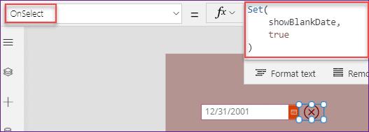 Clear Date in DatePicker Power Apps