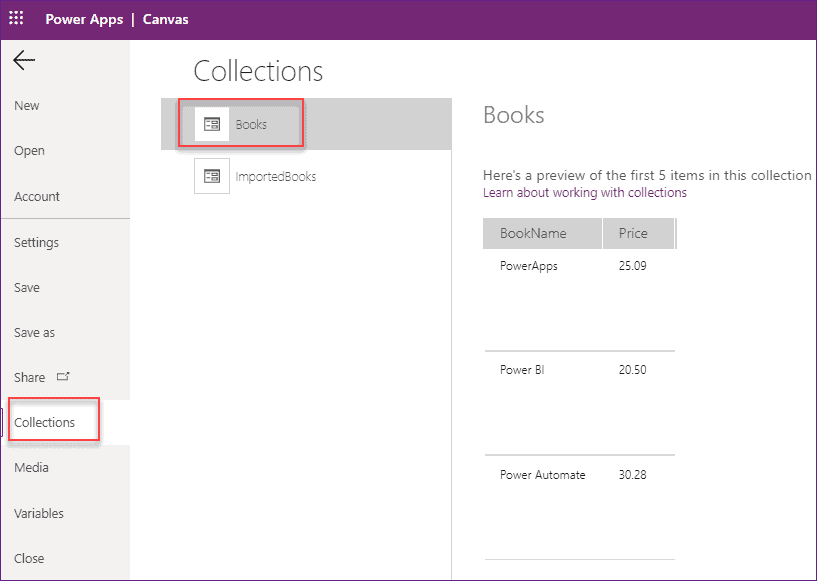 Power Apps Export Import examples