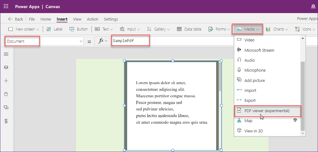 Power Apps PDF Viewer