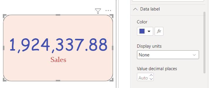 Power BI Card visual number format